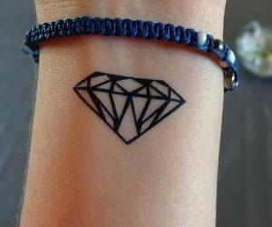 beautiful, diamond, and tattoo image
