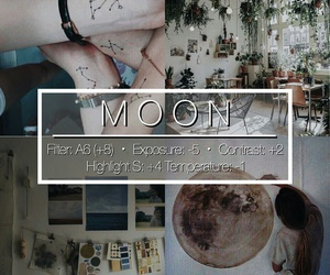 moon, themes, and instagram image