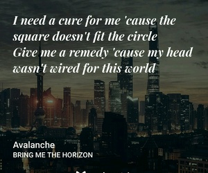 avalanche, bring me the horizon, and Lyrics image