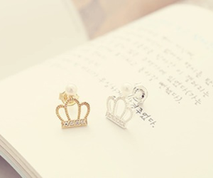 book, crown, and pastel image