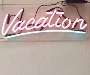 vacation, neon, and pink image