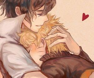 hug, kawaii, and sasunaru image