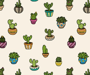 background, cactus, and patterns image