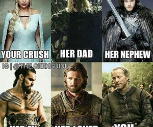 game of thrones, funny, and jon snow image