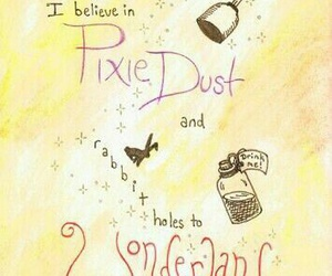 peter pan, pixie dust, and wonderland image
