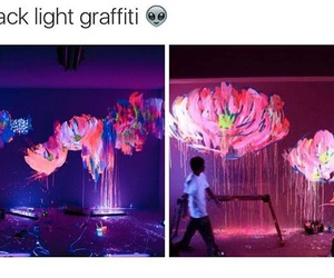 art, colour, and pink light image