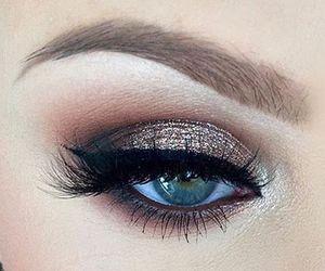 makeup, cosmetics, and eye liner image