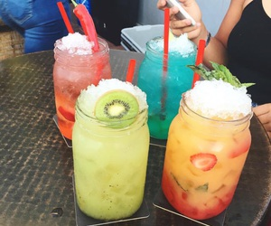 colors, drink, and coloridas image