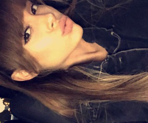 low quality, snapchat, and ariana grande image