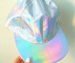holographic, tumblr, and cap image