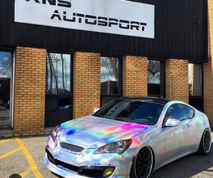 car, holographic, and colors image