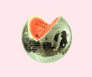 art, watermelon, and disco image
