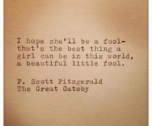the great gatsby, fool, and quote image