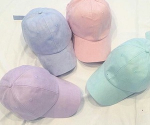 aesthetic, pastel, and caps image