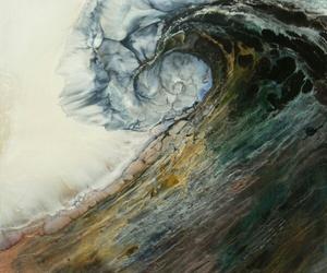 waves, art, and ocean image