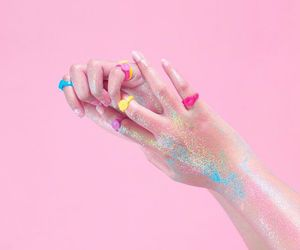 pink, aesthetic, and hands image