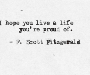 f. scott fitzgerald, quote, and life image