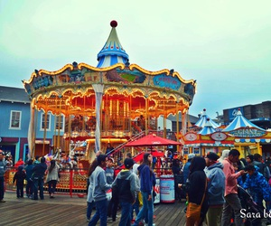 beautiful, Pier 39, and pretty lights image