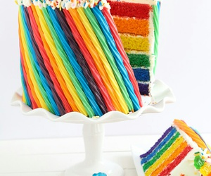 colors, cake, and food image