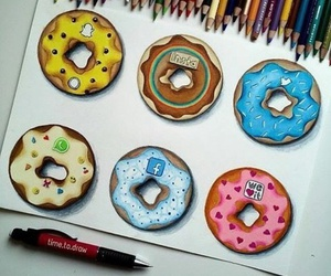 donuts, we heart it, and instagram image