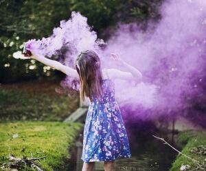 purple, smoke, and dress image