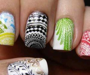 colorful, designs, and nails image