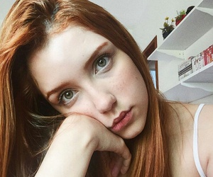ginger, girl, and pale image
