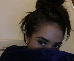 aesthetics, bun, and girl image