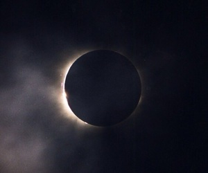 eclipse, moon, and dark image