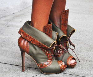 heels, shoes, and steampunk image