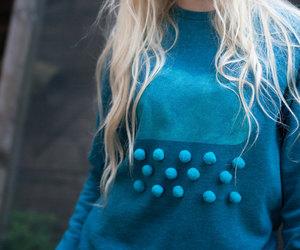 blonde, blue, and blue rain image