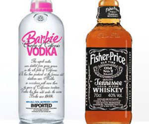 alcohol, vodka, and barbie image
