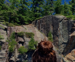 camping, cliffs, and hair image