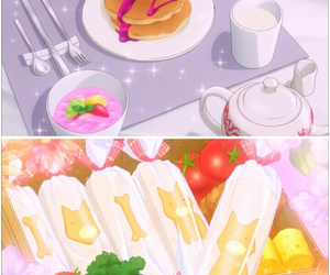 anime, Super Lovers, and food image