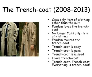 supernatural, trench coat, and castiel image