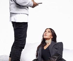 kim kardashian, kanye west, and kim image