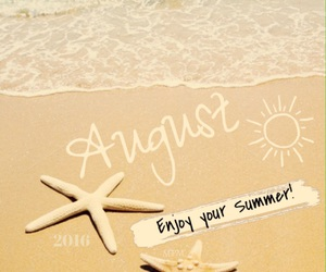 August, beach, and ocean image
