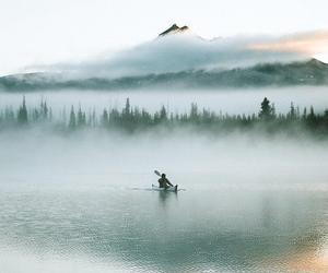 alone, lake, and piece image