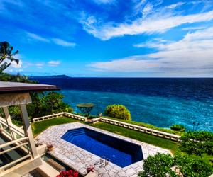 luxury, pool, and ocean image