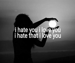 i hate you, I Love You, and quotes image