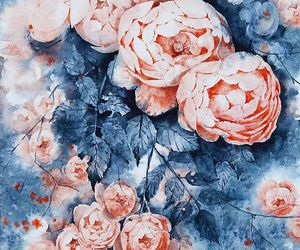 art, roses, and watercolor image