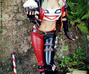 cosplay and harley quinn image