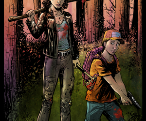 clementine, the walking dead, and the walking dead game image