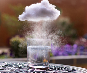 clouds, water, and rain image