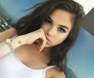 attractive, eyebrows, and nails image