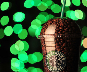 cafe, dof, and frappuccino image
