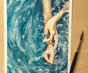 painting and water image