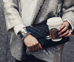 fashion, starbucks, and chanel image