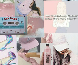 aesthetic, pink, and unicorn image