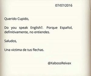cupido, english, and frases image